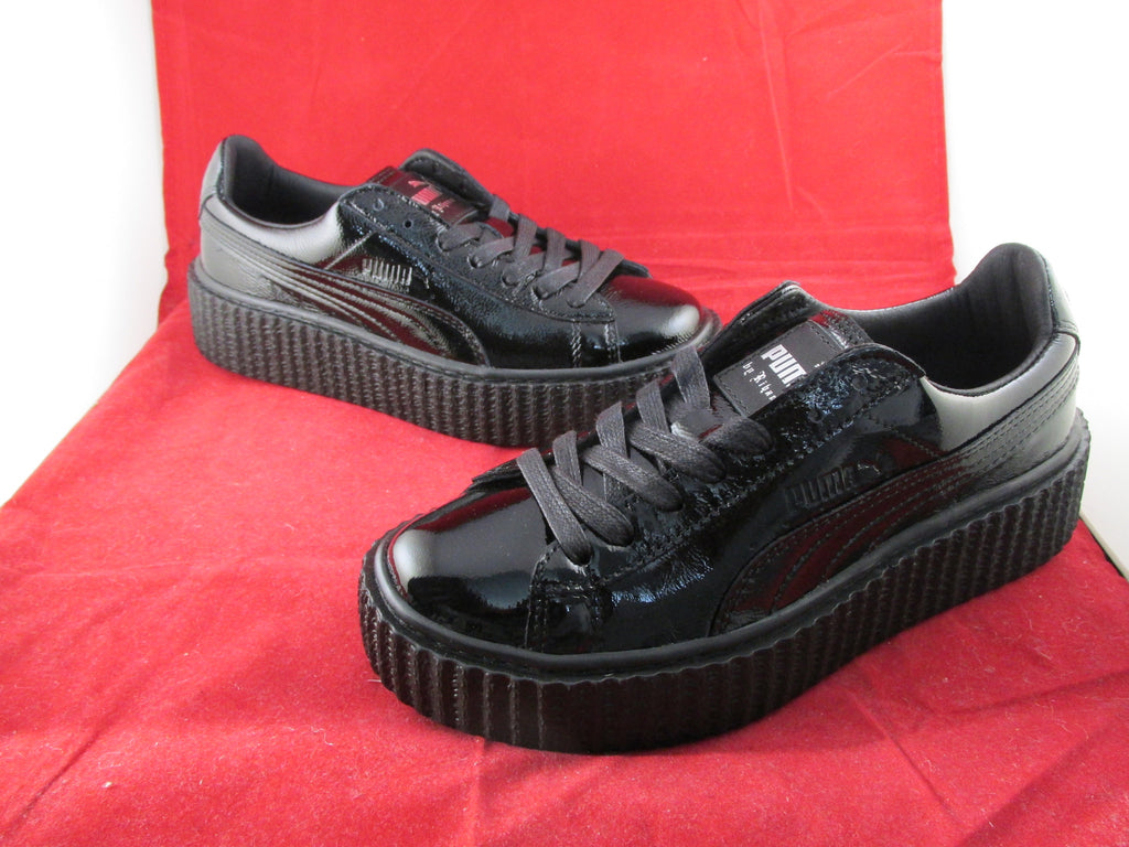 buy popular 735be 893da Creepers x Fenty By Rihanna Crack Leather Black