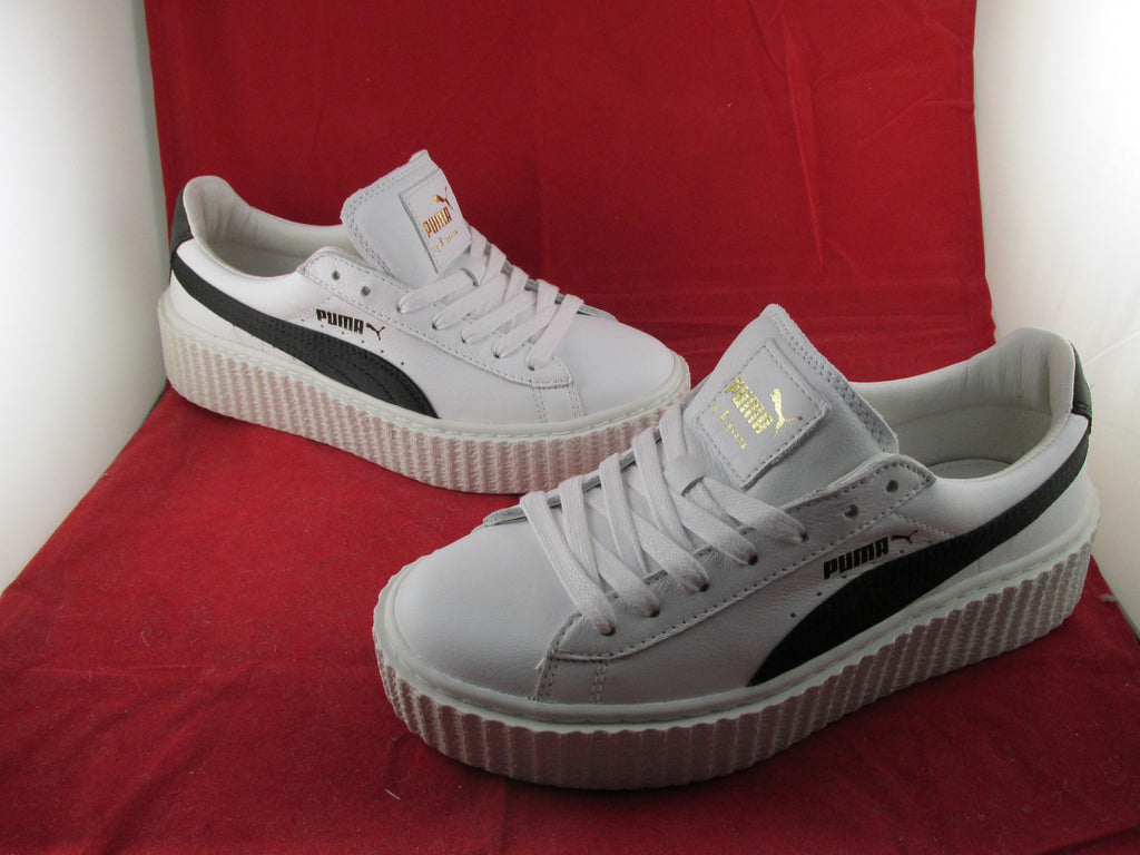 online retailer 81d5d 1d772 Creepers x Fenty By Rihanna Crack Leather White