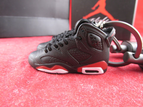 Air Jordan 6 Black Infrared 3D Keychain