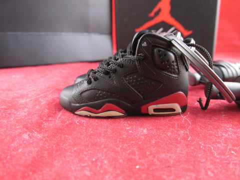 Air Jordan 6 Black Infrared OG 3D Keychain
