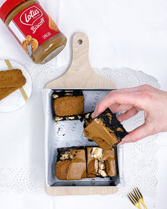 Bea Biscoff - Dark chocolate and Biscoff brownies