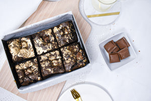 Gluten Free Classy Bea - Milk Chocolate and Caramel Brownies