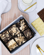 Load image into Gallery viewer, Boujee Bea - Milk and White Chocolate Brownies