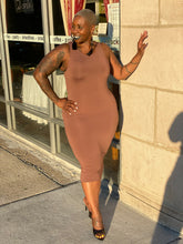 Load image into Gallery viewer, Taupe bodycon dress