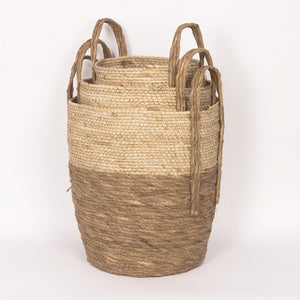 NATURAL STRAW BASKET 287/1-3