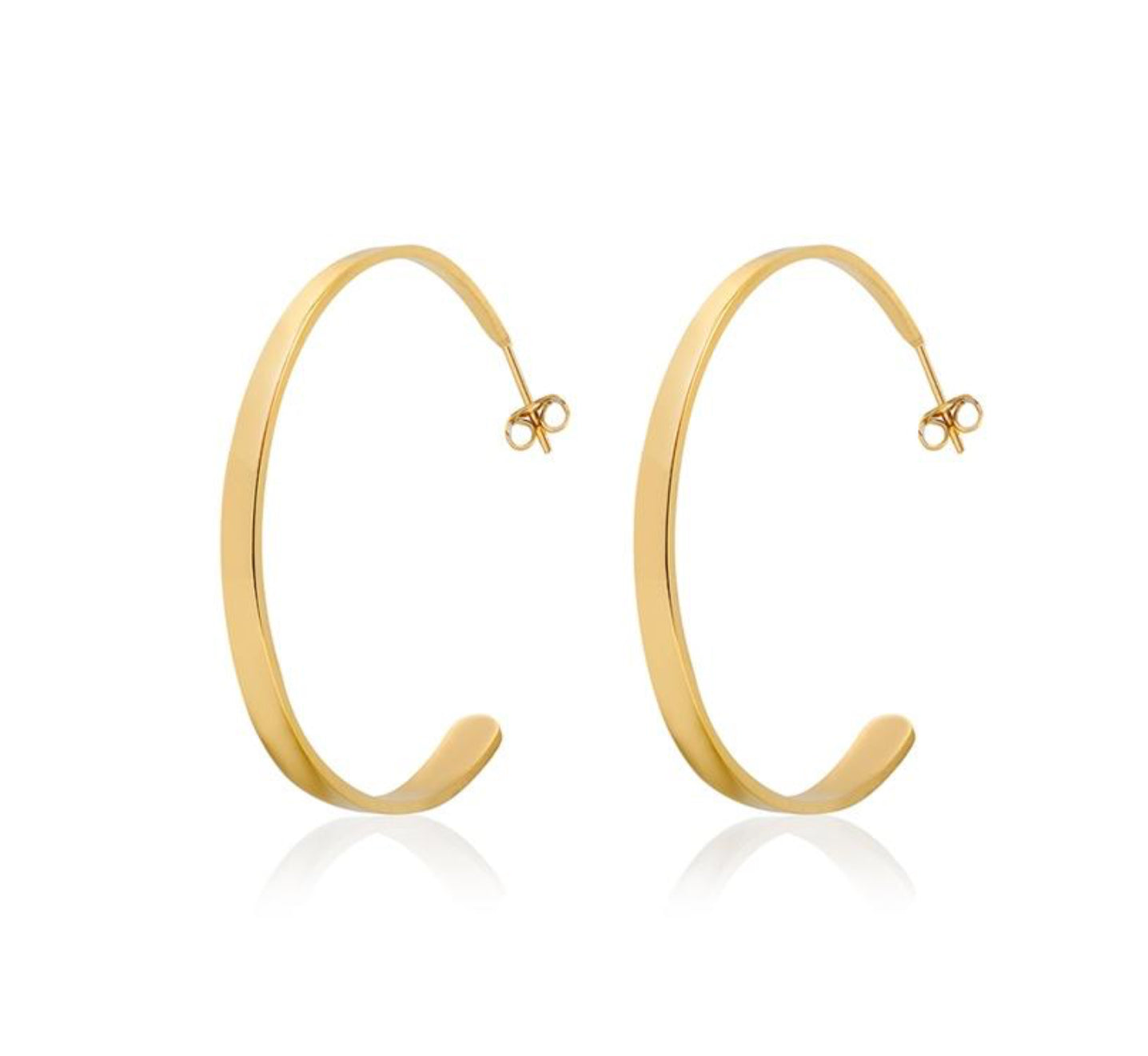 ARZ STEEL HOOP EARRINGS SSE126G