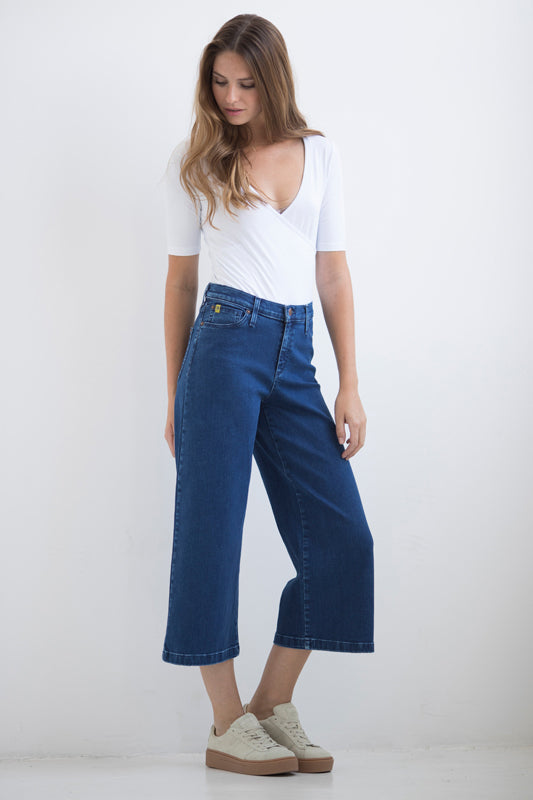 CANADIAN MADE YOGA JEANS HIGH RISE GAUCHO SELENA