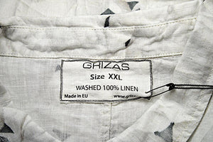 GRIZAS LINEN PRINTED TOP - SALE