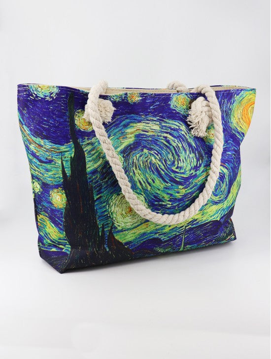 STARRY NIGHT OIL PAINTING SHOULDER BAG BG1611