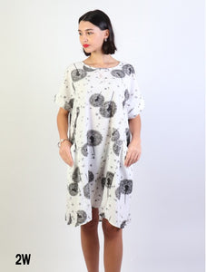 Dandelion print dress cl1432