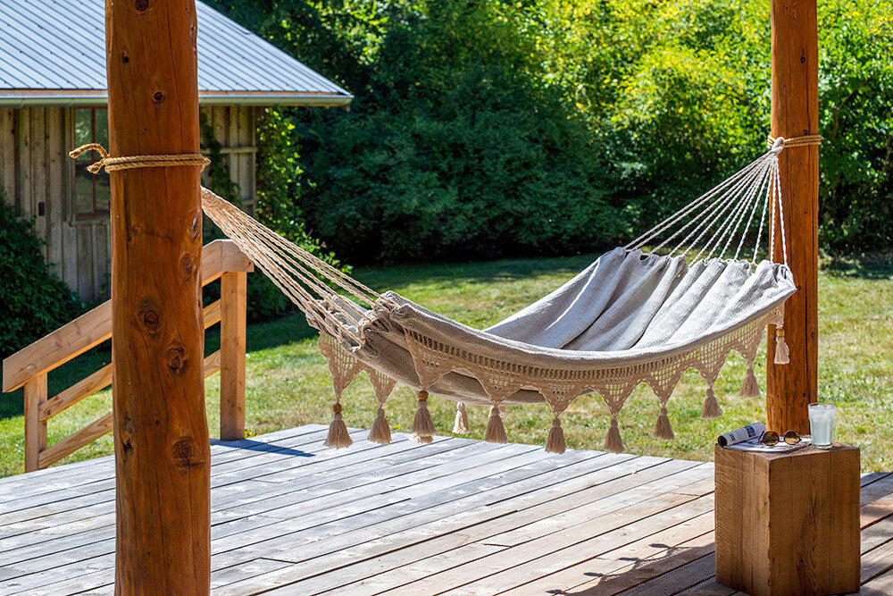 WOVEN DENIM HAMMOCK -SHIPS DIRECT TO YOUR HOUSE!