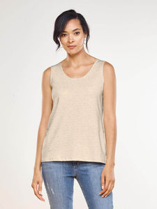 SHANDRA REVERSIBLE TANK  MADE IN CANADA Miik 722 in SAND AND STONE