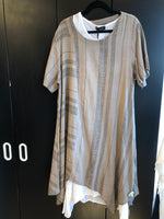 Load image into Gallery viewer, MADE IN ITALY LINEN DRESS 2085 2 PIECE ONE SIZE