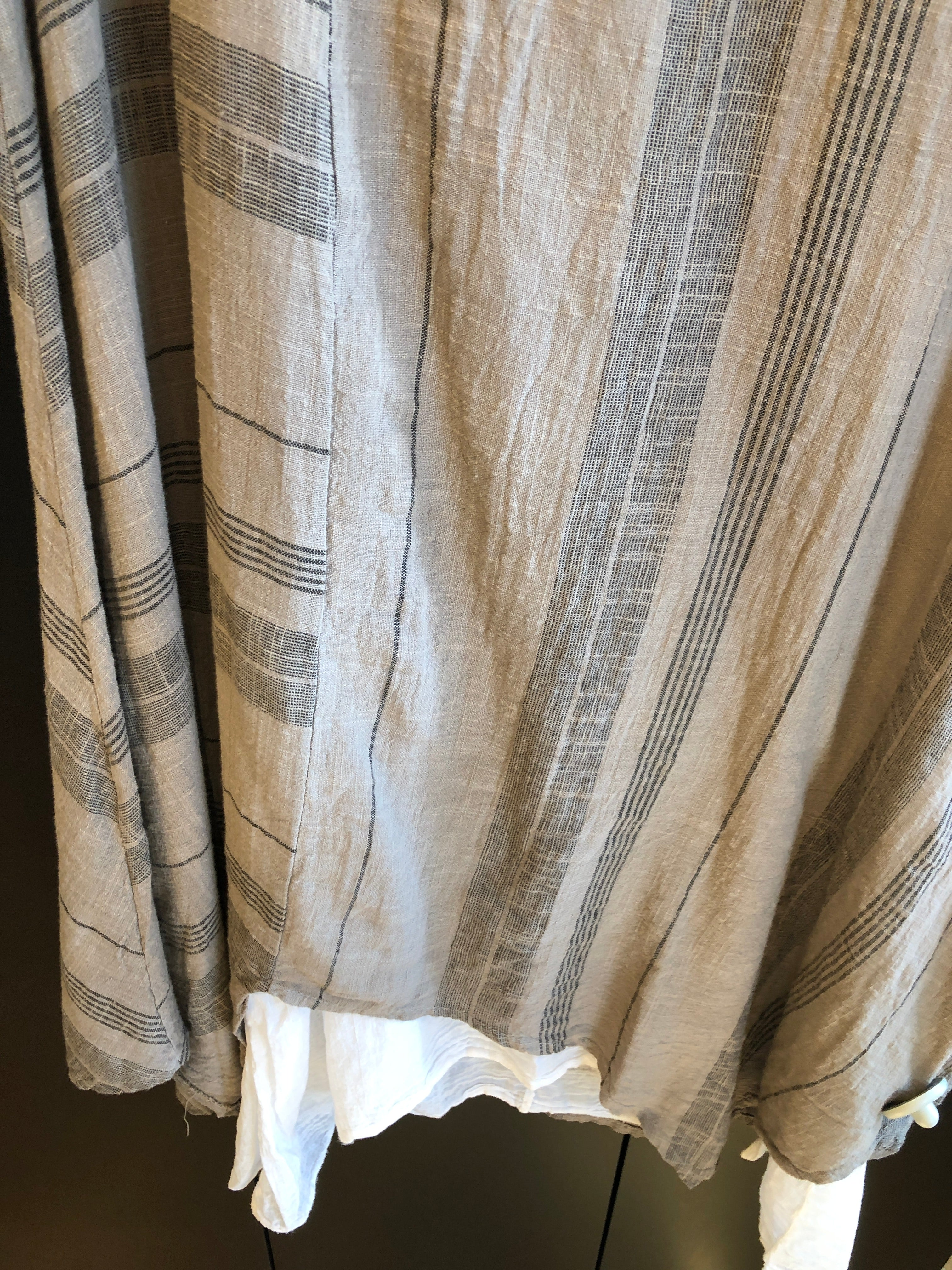 MADE IN ITALY LINEN DRESS 2085 2 PIECE ONE SIZE