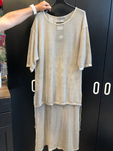 PAOLO LONG MESH TUNIC MS9409