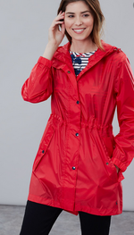 Load image into Gallery viewer, JOULES RIGHT AS RAIN JACKET PACKABLE RED