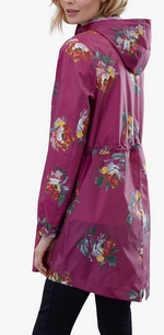 Load image into Gallery viewer, JOULES RIGHT AS RAIN JACKET PACKABLE BERRY PEONY
