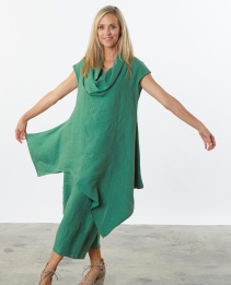 BRYN WALKER NOA TUNIC 1384-GREEN AND TURQUOIS