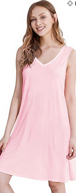 Load image into Gallery viewer, DOWN LUXURY BAMBOO SLEEPWEAR NIGHTDRESS PINK