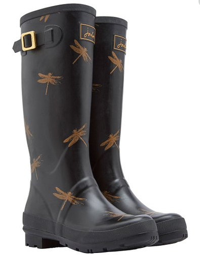 WELLY BLACK JOULES DRAGONFLY BOOT