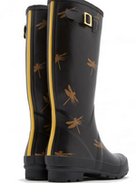 Load image into Gallery viewer, WELLY BLACK JOULES DRAGONFLY BOOT