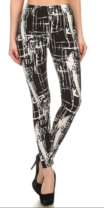 PAINTERS STROKE - REGULAR BAND LEGGING FLIRTY AND FEMME