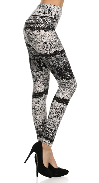 B/W NEW LACE  - REGULAR BAND LEGGING FLIRTY AND FEMME