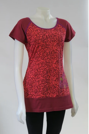 LEOPARDS AND ROSES ORGANIC COTTON TOP TT-T20315