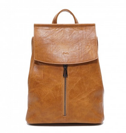 CHLOE CONVERTIBLE BACKPACK VEGAN S-Q 16W24 CAMEL