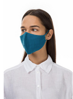 Load image into Gallery viewer, GRIZAS FACE MASK non medical - 156 LINEN AND COTTON TEAL