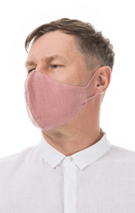 Load image into Gallery viewer, GRIZAS FACE MASK non medical  - 155 LINEN AND COTTON DUST PINK