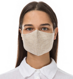 Load image into Gallery viewer, GRIZAS FACE MASK non medical  L258 LINEN AND COTTON SAND BEIGE