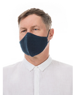 Load image into Gallery viewer, GRIZAS FACE MASK non medical  184 LINEN AND COTTON DARK BLUE