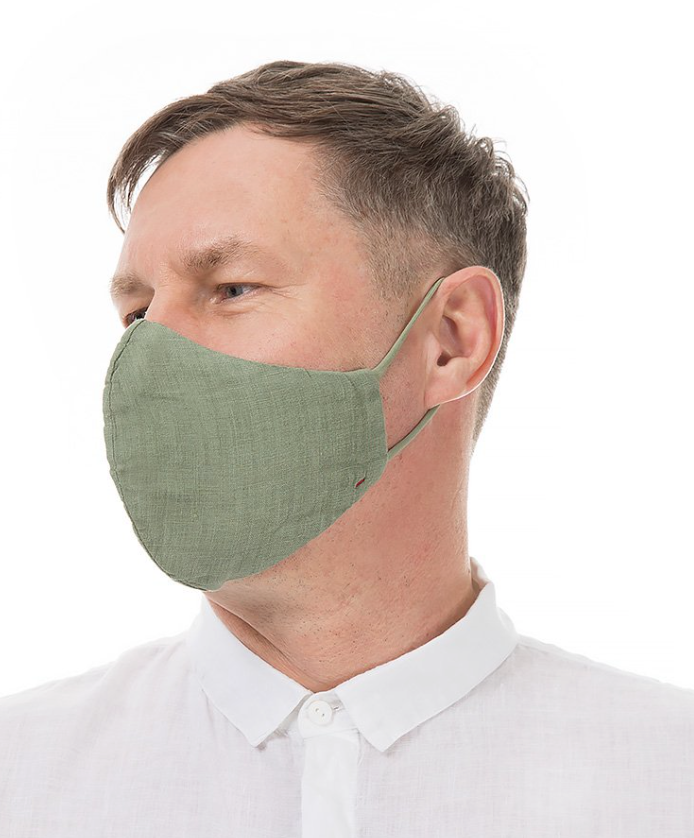 GRIZAS FACE MASK non medical - 189 LINEN AND COTTON KHAKI
