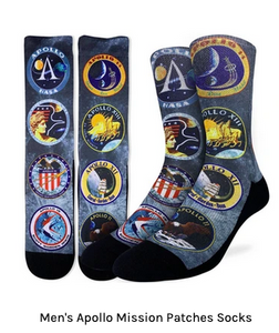 GOOD LUCK SOCK- APOLLO MISSION SIZE 8-13C