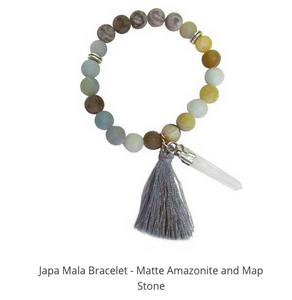 MALA BRACELTE AMAZONITE AND MAP STONE