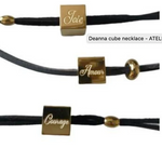 "Load image into Gallery viewer, ATELIER SYP 18K DEANNA CUBE NECKLACE ""AMOUR"""