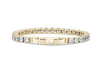 Load image into Gallery viewer, ARZ STEEL GOLD PLATED TENNIS BRACELET 5MM ZWB07 size 7.5