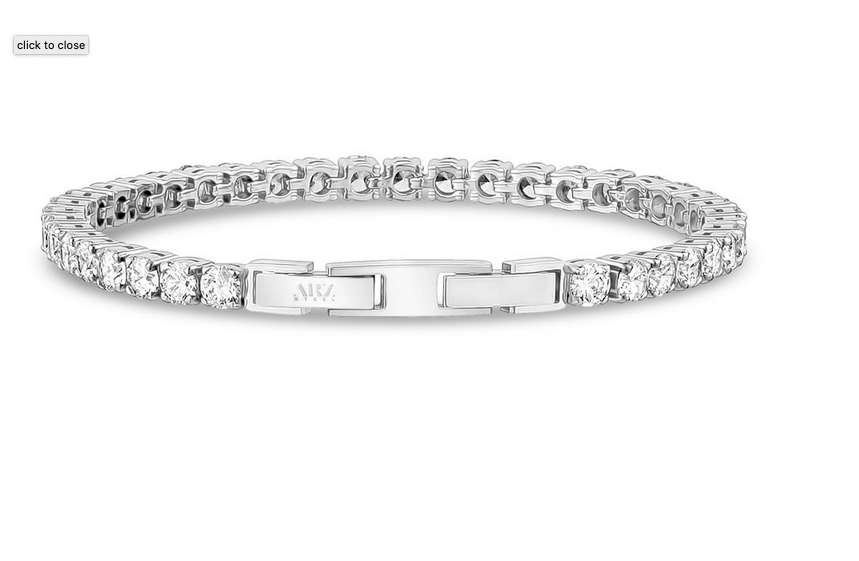 ARZ STEEL  TENNIS BRACELET 4MM ZWB08 size 6.5