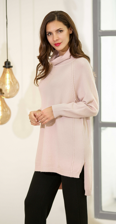 HIGH LOW SWEATER 4178 PINK
