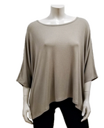 Load image into Gallery viewer, GILMOUR MODAL RIB KNIT DRAPE TEE MT-1047