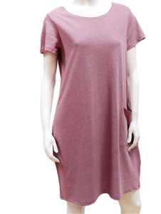 FINAL SALE $40.00 GILMOUR HEMP COTTON POCKET DRESS HCD-3012