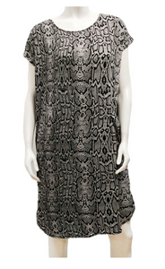 GILMOUR GREY PYTHON SHIRT DRESS RD-3021