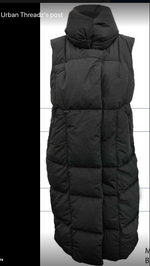 Load image into Gallery viewer, VEGAN DOWN LONG VEST -BLACK