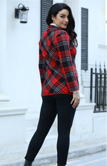 Load image into Gallery viewer, PLAID FALL COAT 7071
