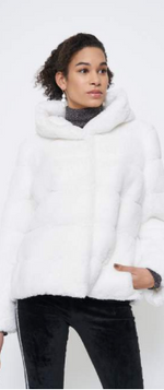 Load image into Gallery viewer, EMILIA ZIP OFF COAT IVORY DC007 xs