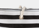 Load image into Gallery viewer, ALOHA TOTE BAG IN CANVAS BLACK STRIPE TTE4011