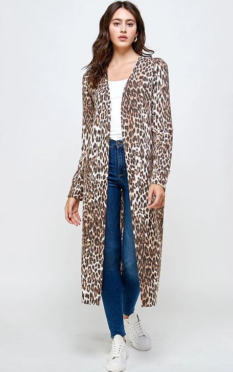 MILEY+MOLLY LONG LEOPARD DUSTER