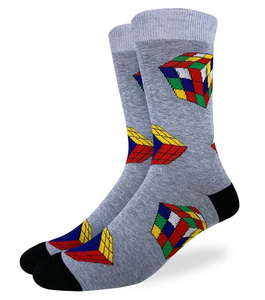 GOOD LUCK SOCKS RUBIKS CUBE  SIZE 13-17