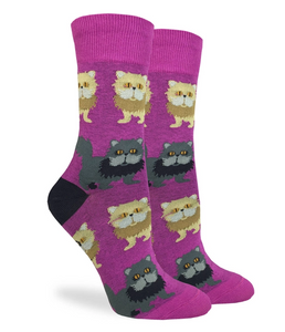GOOD LUCK SOCKS WOMEN 5-9 PERSIAN CAT
